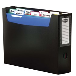 MARBIG PORTABLE ORGANISER FILE BLACK WITH 10 FILES