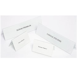 CONVENTION CARD HOLDER MARBIG NAME PLATES LARGE INC CARDS Box of 25