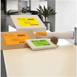 AVERY SIGNALLING FLURO LASER LABELS L7162FY YELLOW 16 PER SHEET