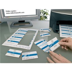 AVERY QUICK & CLEAN BUSINESS CARDS C32015 8 P/SHT INKJET MATTE 250GSM