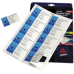 AVERY QUICK & CLEAN BUSINESS CARDS C32016 10 LABELS PER SHEET 220GSM