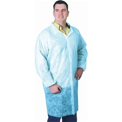 DISPOSABLE PROTECTIVE WEAR Lab Coat Blue