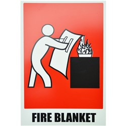 FIRE BLANKET LOCATION SIGN Size: 150x225mm