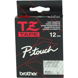 BROTHER TZE135 PTOUCH TAPE 12MMx8M White on Clear Tape