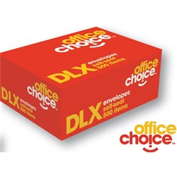 OFFICE CHOICE DLX ENVELOPES 120x235 Selfseal Secretive 80g Plain Face Box of 500
