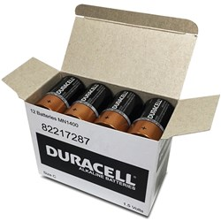 DURACELL COPPERTOP BATTERY C Available in 12