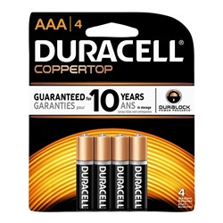 DURACELL ALKALINE BATTERIES CARDED AAA 4PKT