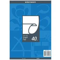 VICTORY GRAPH PAD A4 2mm 50gsm 40 Leaf