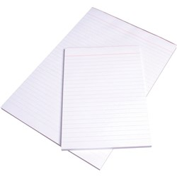 VICTORY OFFICE PADS WHITE BANK A5 PLAIN