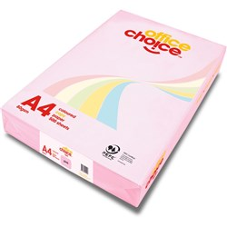 OFFICE CHOICE TINTS COPY PAPER A4 80gsm Pink Ream of 500