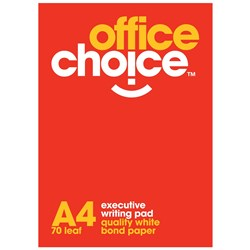 OFFICE CHOICE EXECUTIVE OFFICE PAD A4