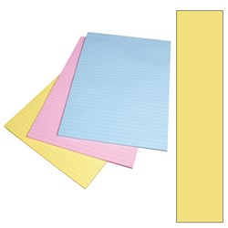 VICTORY BOND OFFICE PAD A4 Ruled 50 Leaf Yellow