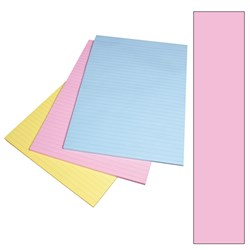 VICTORY A4 OFFICE PAD RULED PINK BOND