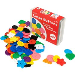 EDX EDUCATION ASSORTED BUTTONS Large - Pack of 90