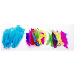 CRAFT FEATHERS TROPICAL Assorted Colours 20gm