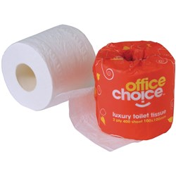 OFFICE CHOICE TOILET PAPER PREMIUM 2 PLY 400 SHEET Available in carton 48