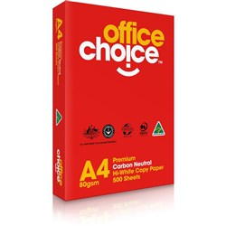 OFFICE CHOICE WHITE COPY PAPER A4 NOW CARBON NEUTRAL Available in 5's