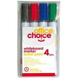OFFICE CHOICE WHITEBOARD MRKR Marker Assorted Wallet of 4