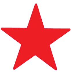 DESKMATE MERIT STAMP Star Red