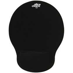 OFFICE CHOICE MOUSE PAD AND WRIST REST GEL BLACK