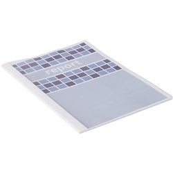 IBICO THERMAL BINDING COVERS 4MM SEMI GLOSS CLEAR FRONT WHITE BACK
