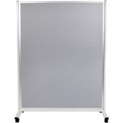 MOBILE DISPLAY PANEL D/SIDED 150 X120CM GREY FABRIC