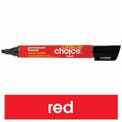 OFFICE CHOICE PERMANENT MARKER RED CHISEL POINT