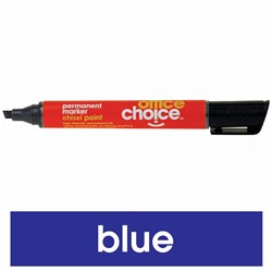 OFFICE CHOICE PERMANENT MARKER BLUE CHISEL POINT