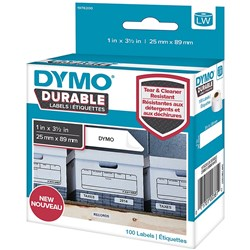DYMO LABELWRITER LABELS Durable White Label 25mmx89mm