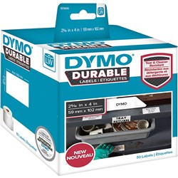 DYMO LABELWRITER LABELS Durable White Label 59mmx102mm