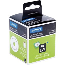 SANFORD LABEWRITER CD/DVD WHITE 57MM DIAMETER LABELS