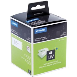 DYMO LABELWRITER LABELS LARGE ADDRESS 36X89MM Box of 520 Labels