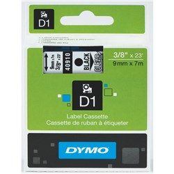 DYMO D1 TAPES 9MMX7M BLACK ON CLEAR
