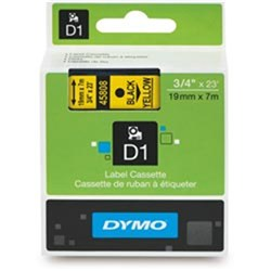 DYMO D1 TAPES 19MMX7M BLACK ON YELLOW