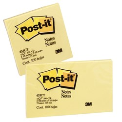 POST IT NOTE 654-CT 73 X 73 NEON CITRUS ASTD
