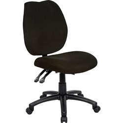 OFFICE CHOICE DURBAN CHAIR HIGH BACK WITHOUT ARMS BLACK FABRIC